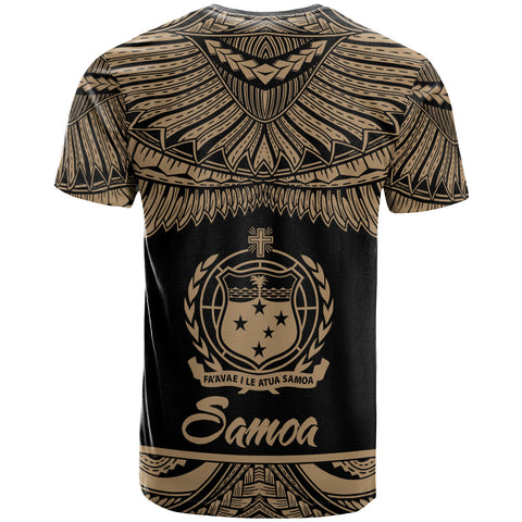 Image of Samoa Polynesian Custom Personalised T-Shirt - Samoan Pride Gold Version - BN12