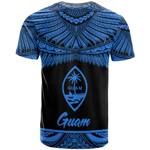 Image of Guam Polynesian Custom Personalised T-Shirt - Guam Pride Blue Version - BN12