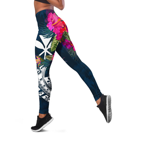Hawaii Leggings - Polynesian Hibiscus with Summer Vibes