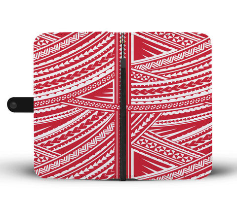 Polynesian Wallet Phone Case - White Red Version