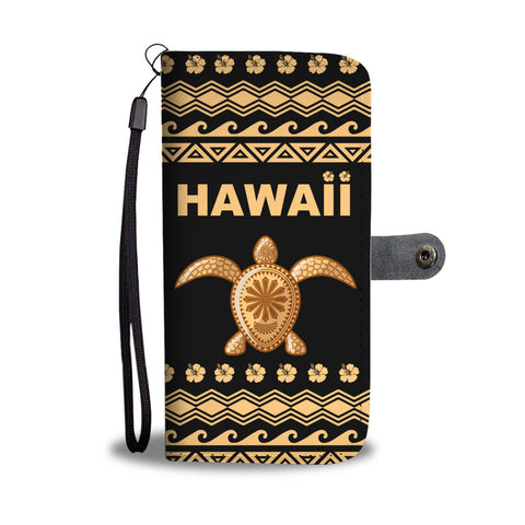 Hawaii Wallet Phone Case - Polynesian Turtle Version Front