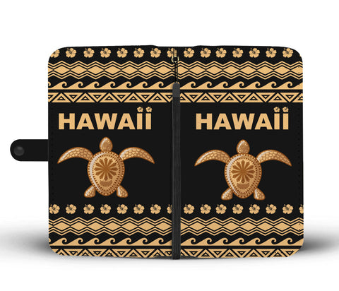 Image of Hawaii Wallet Phone Case - Polynesian Turtle Version