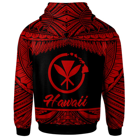 Image of Hawaii Polynesian Zip Hoodie - Hawaii Pride Red Version - BN12
