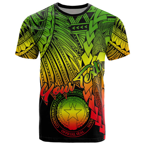 Image of Northern Mariana Islands Polynesian Custom Personalised T-Shirt - Tribal Wave Tattoo Reggae