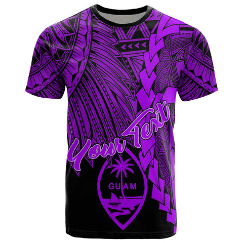Image of Guam Polynesian Custom Personalised T-Shirt - Tribal Wave Tattoo Purple