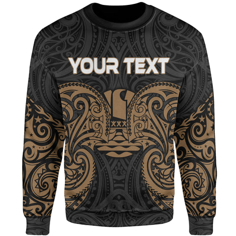 Tahiti Polynesian Custom Personalised Sweater - Spirit Style Gold