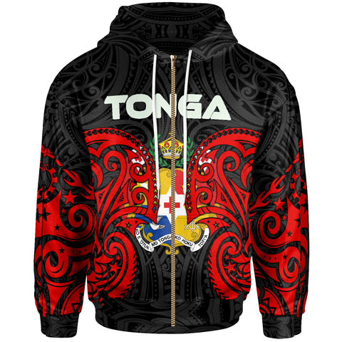 Image of Tonga Polynesian Zip Up Hoodie - Tongan Spirit
