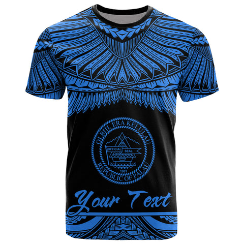 Palau Polynesian Custom Personalised T-Shirt - Palau Pride Blue Version