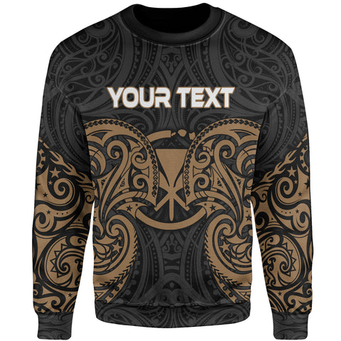 Hawaii Polynesian Custom Personalised Sweater - Spirit Style Gold
