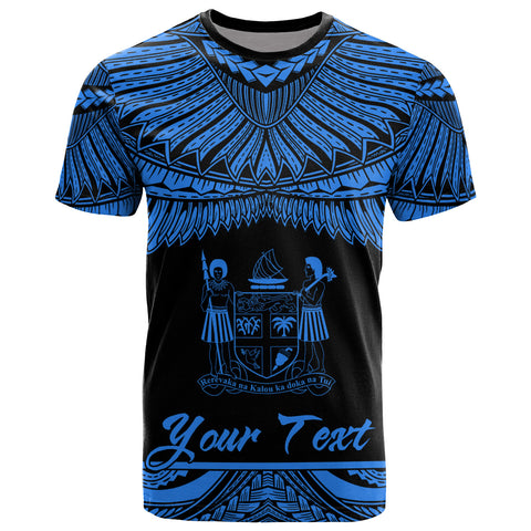 Fiji Polynesian Custom Personalised T-Shirt - Fiji Pride Blue Version