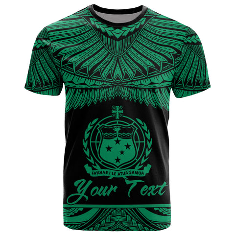 Samoa Polynesian Custom Personalised T-Shirt - Samoa Pride Green Version