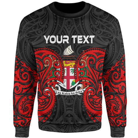 Fiji Polynesian Custom Personalised Sweater - Spirit Style