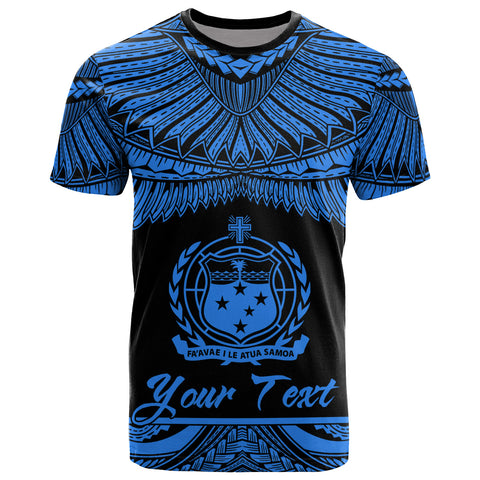Samoa Polynesian Custom Personalised T-Shirt -Samoa Pride Blue Version