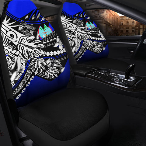 Guam Car Seat Cover - The Flow OF Ocean Blue Color - BN20