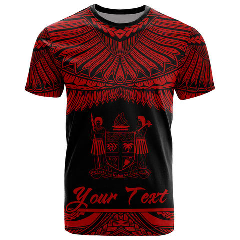 Fiji Polynesian Custom Personalised T-Shirt - Fijian Pride Red Version