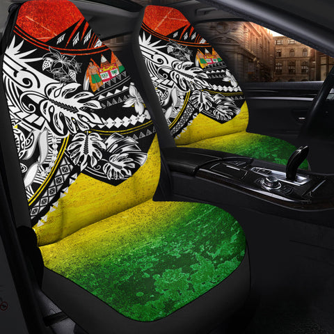 Fiji Car Seat Cover - The Flow OF Ocean Reggae Color - BN20