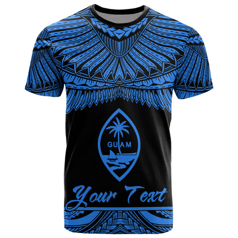 Guam Polynesian Custom Personalised T-Shirt - Guam Pride Blue Version