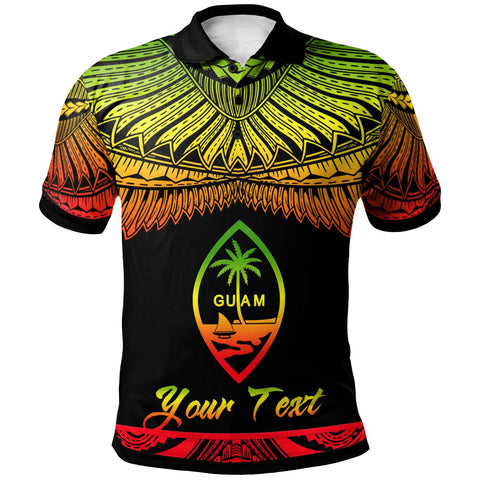 Guam Polynesian Custom Personalised Polo Shirt - Poly Tattoo Reggae Version