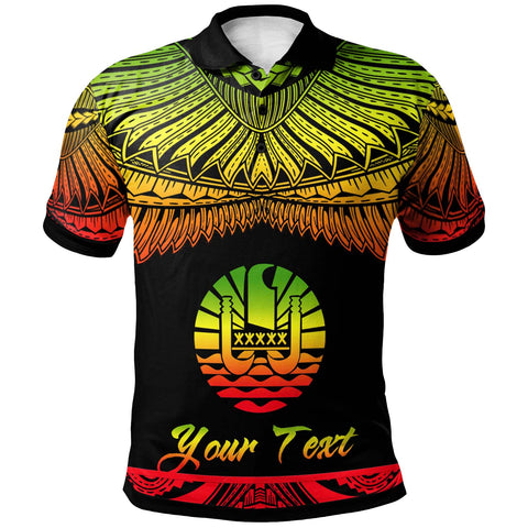 Tahiti Polynesian Custom Personalised Polo Shirt - Poly Tattoo Reggae Version
