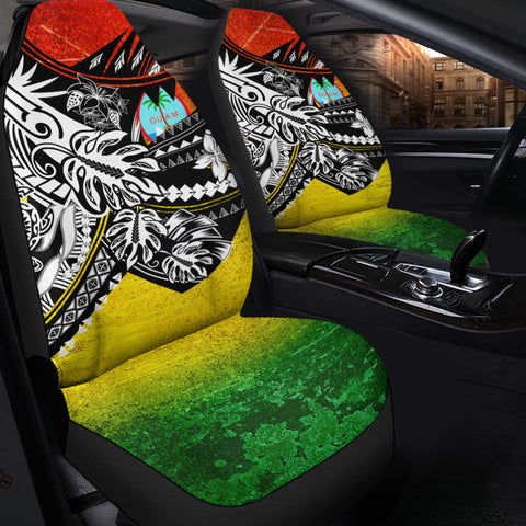 Image of Guam Car Seat Cover - The Flow OF Ocean Reggae Color - BN20