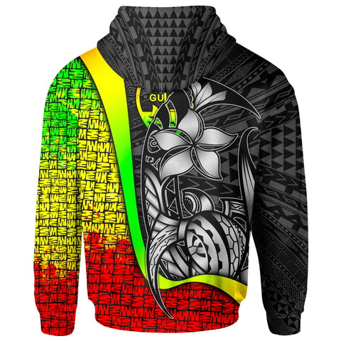 Guam Polynesian Hoodie Reggae - Turtle with Hook