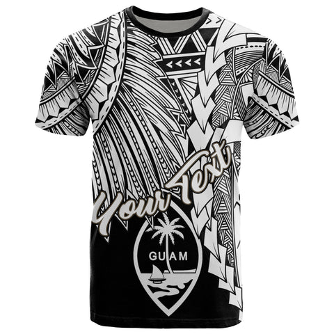 Guam Polynesian Custom Personalised T-Shirt - Tribal Wave Tattoo White
