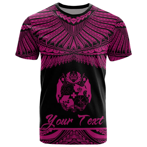 Image of Tonga Polynesian Custom Personalised T-Shirt - Tonga Pride Pink Version
