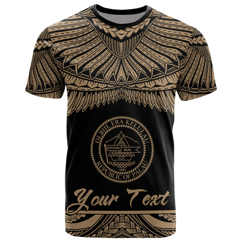 Palau Polynesian Custom Personalised T-Shirt - Palau Pride Gold Version