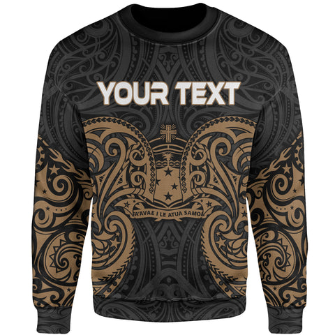 Image of Samoa Polynesian Custom Personalised Sweater - Spirit Style Gold