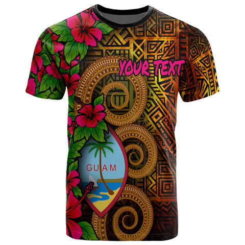 Image of Guam Polynesian Custom Personalised T-Shirt - Hibiscus Vintage