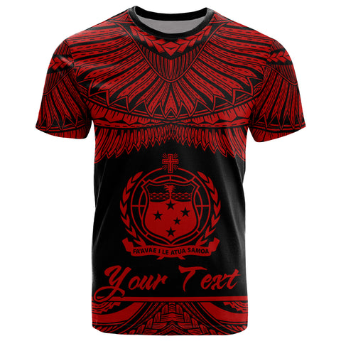 Image of Samoa Polynesian Custom Personalised T-Shirt - Samoan Pride Red Version