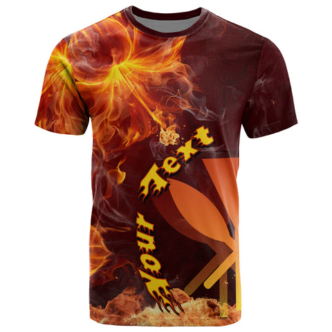 Hawaii Polynesian Custom Personalised T- Shirt - Fire Hibiscus - BN12