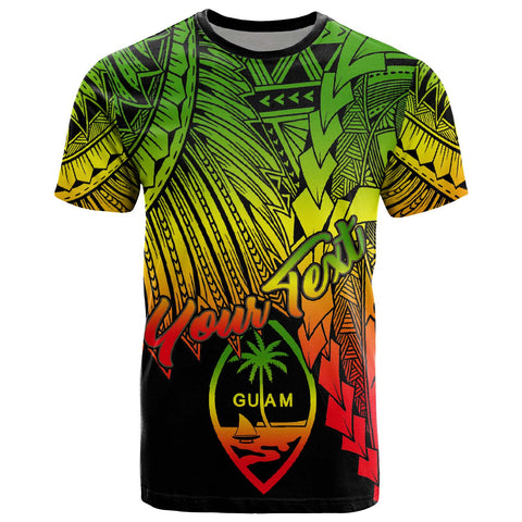 Guam Polynesian Custom Personalised T-Shirt - Tribal Wave Tattoo Reggae