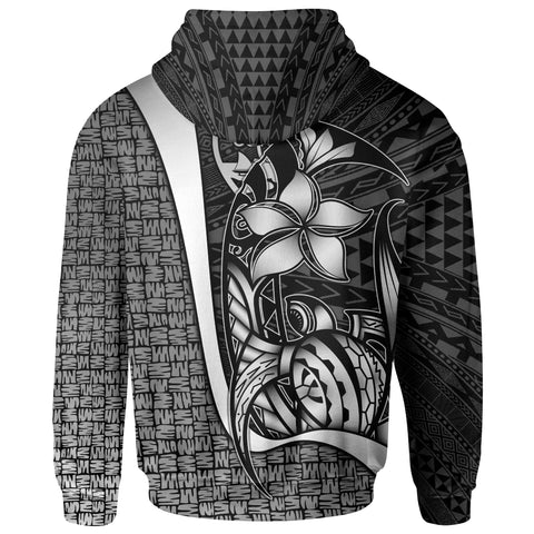 Image of Guam Polynesian Hoodie White - Turtle with Hook