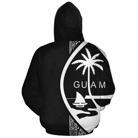 Guam Zip-Up Hoodie, Guam Personalised Custom Zip-Up Hoodie, Polynesian, Personalised Custom Zip-Up Hoodie, Polynesian Personalised Custom Zip-Up Hoodie