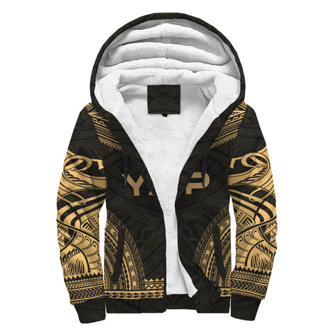 Yap Polynesian Chief Sherpa Hoodie - Gold Version
