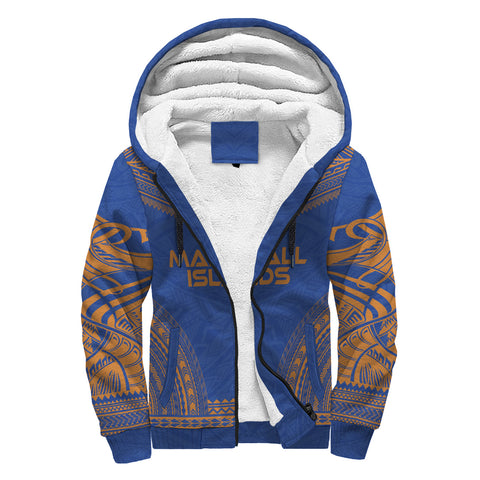 Marshall Islands Polynesian Chief Sherpa Hoodie - Reggae Version