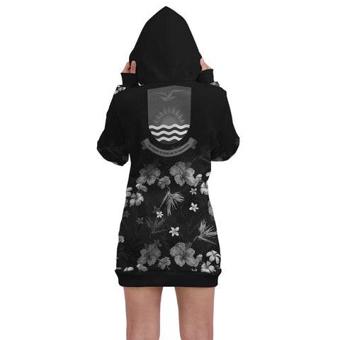 Image of Kiribati Hoodie Dress Special Hibiscus A7