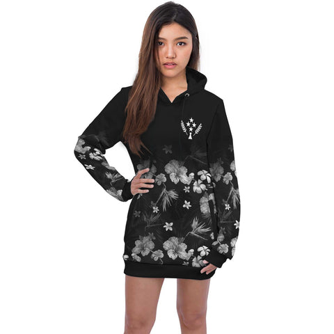 Kosrae Hoodie Dress Special Hibiscus A7