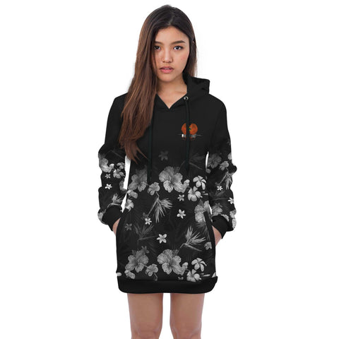 Papua New Guinea Hoodie Dress Special Hibiscus