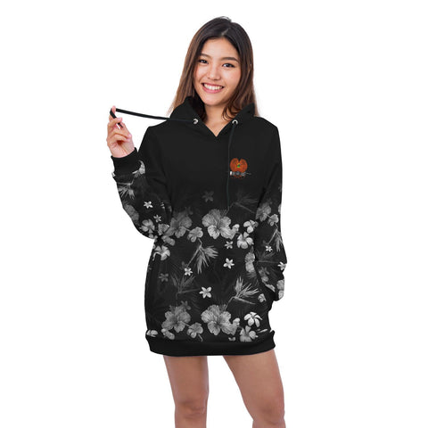 Papua New Guinea Hoodie Dress Special Hibiscus A7