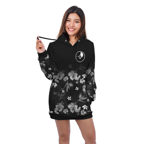 Yap Hoodie Dress Special Hibiscus A7