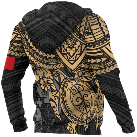 Tonga Polynesian Hoodie (Zip-up) - Golden Turtle