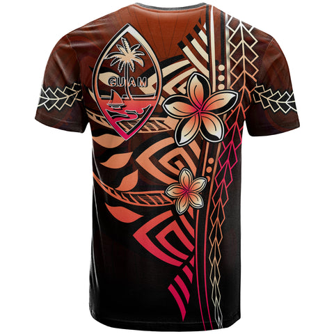 Image of Guam Polynesian T-Shirt Red - Vintage Tribal Mountain