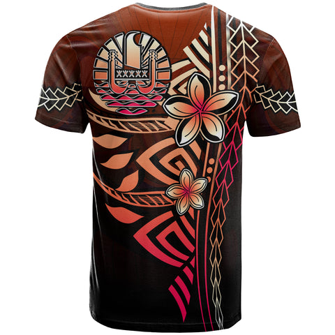 Tahiti Polynesian T-Shirt Red - Vintage Tribal Mountain