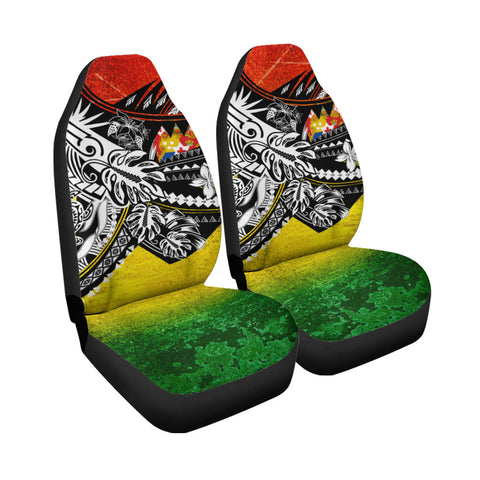 Image of Tonga Car Seat Cover - The Flow OF Ocean Reggae Color - BN20