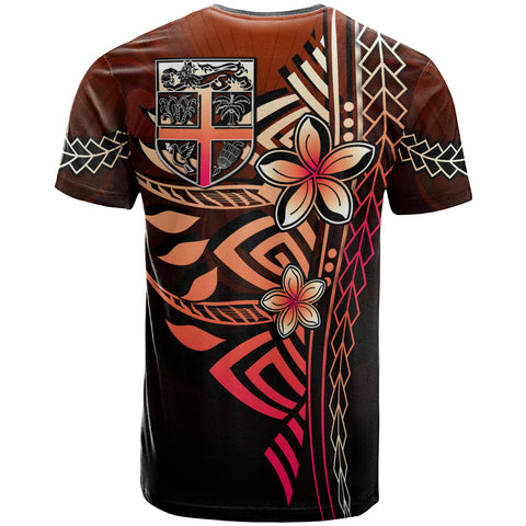 Fiji Polynesian T-Shirt Red - Vintage Tribal Mountain