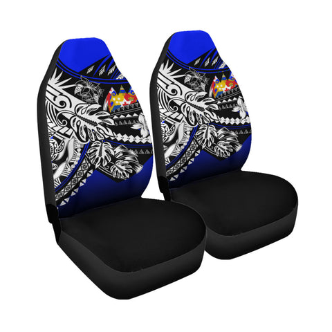 Image of Tonga Car Seat Cover - The Flow OF Ocean Blue Color - BN20