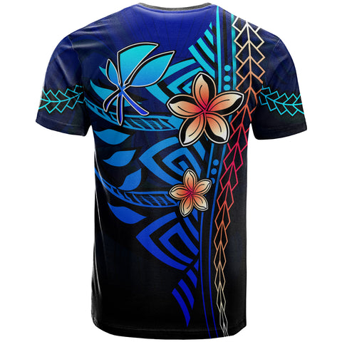 Hawaii Polynesian T-Shirt Blue - Vintage Tribal Mountain