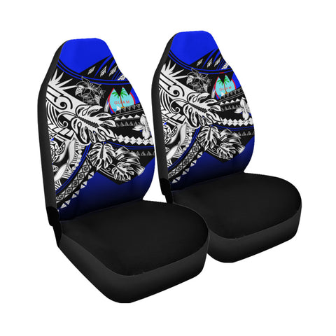 Image of Guam Car Seat Cover - The Flow OF Ocean Blue Color - BN20